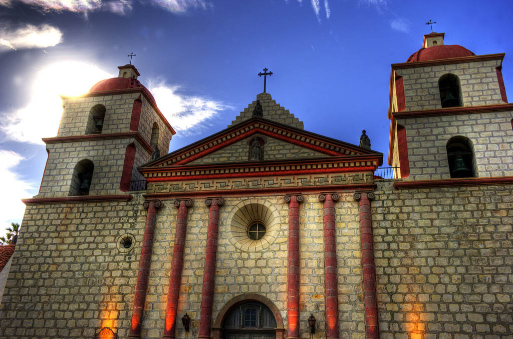 mission santa barbara1 Best HDR Pictures of Mission Santa Barbara