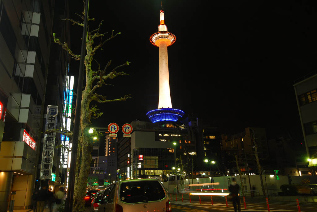 kyoto tower3 Kyoto Tower by Night