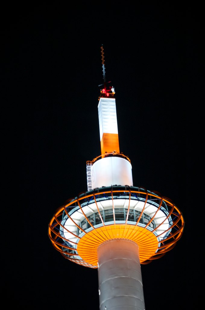 kyoto tower8 Kyoto Tower by Night