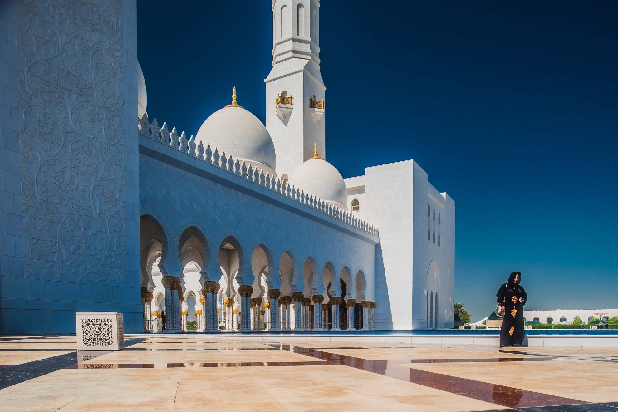sheikh zayed grand mosque6 Picturesque Sheikh Zayed Grand Mosque in Abu Dhabi