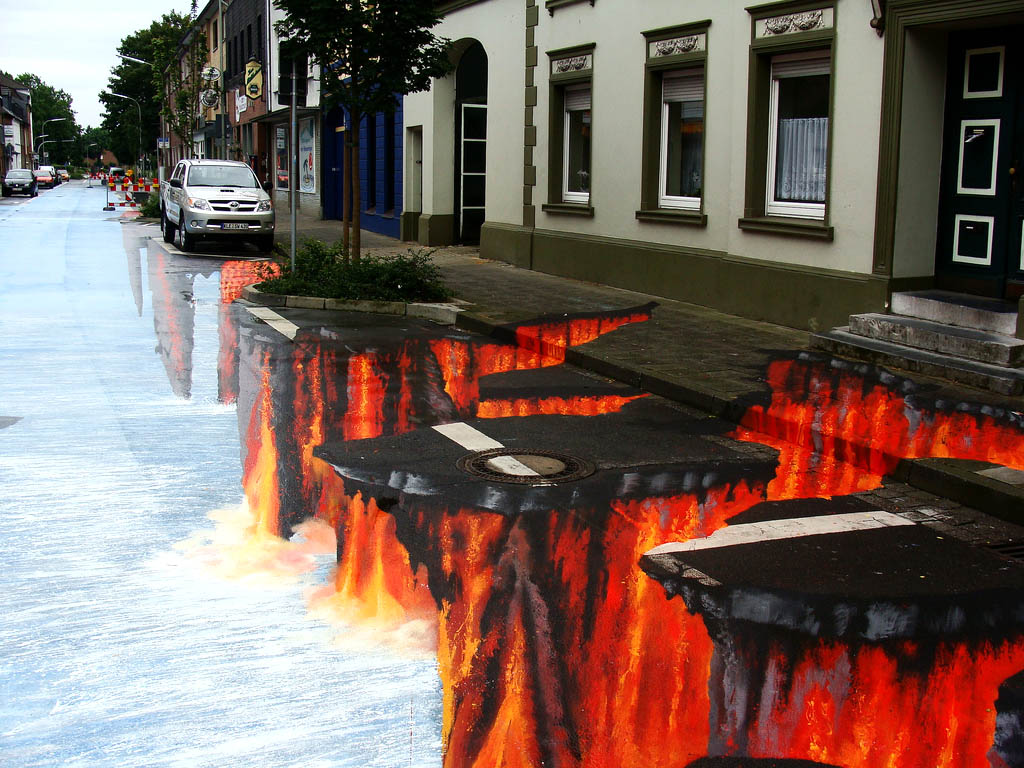 street art15 Amazing 3D Street Art Paintings