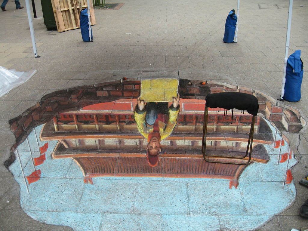 street art17 Amazing 3D Street Art Paintings