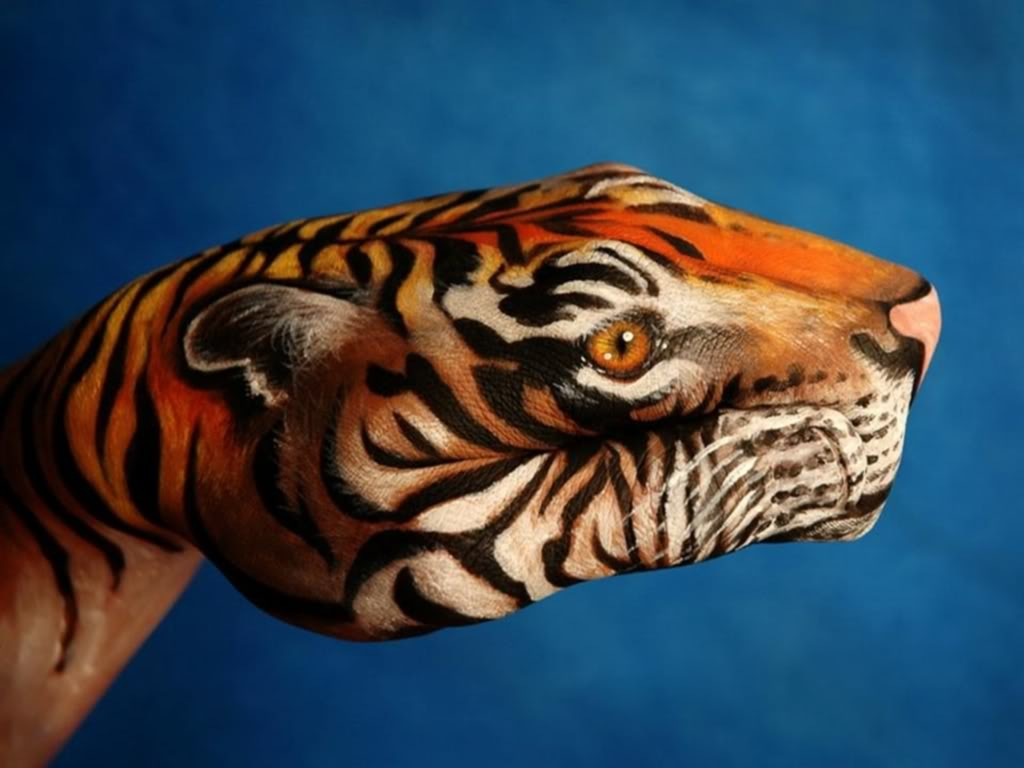 bodypainting7 Best Animal Hands Bodypainting