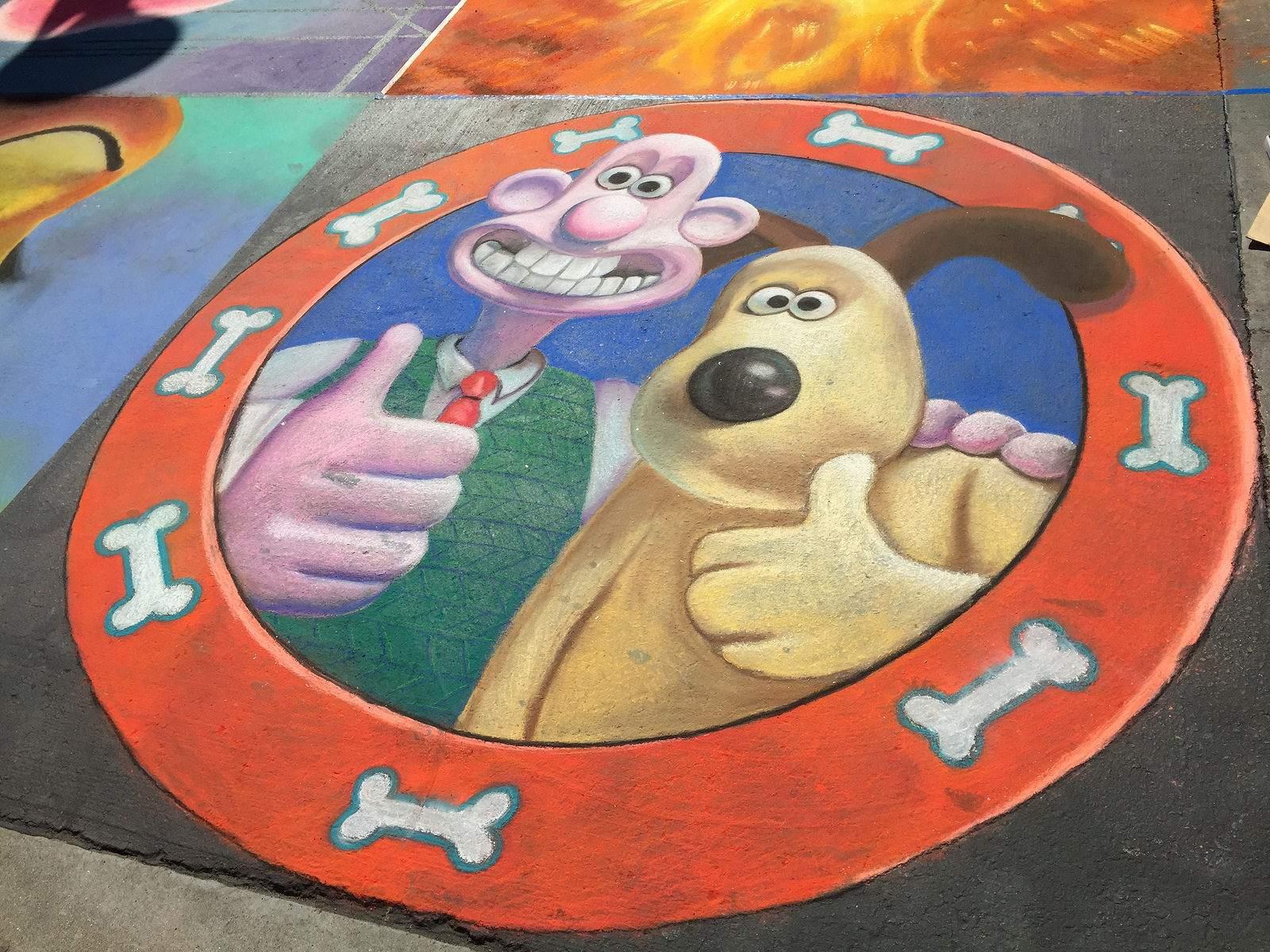 chalk festival Chalk Festival in Westlake Shopping Center