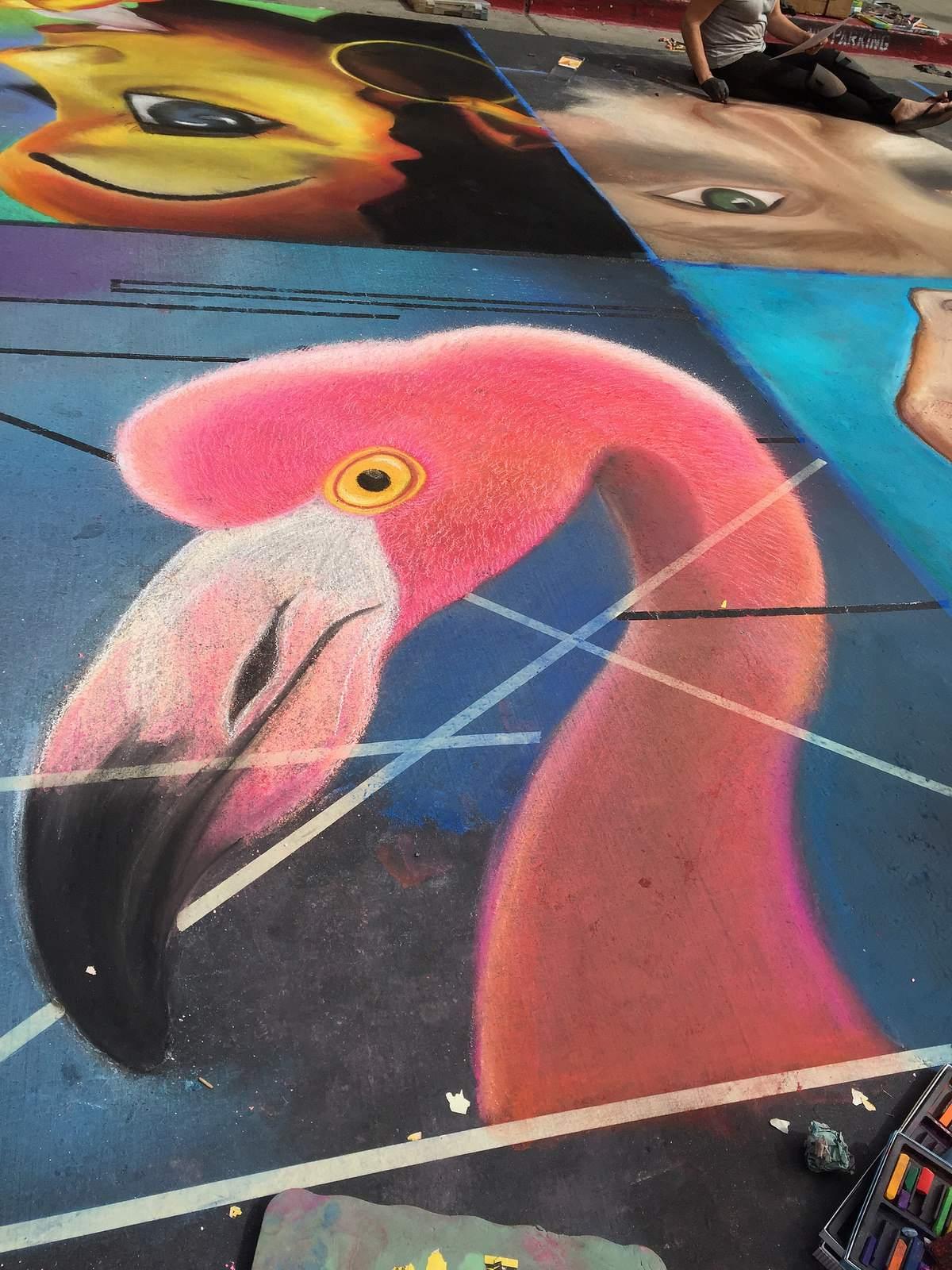 chalk festival5 Chalk Festival in Westlake Shopping Center