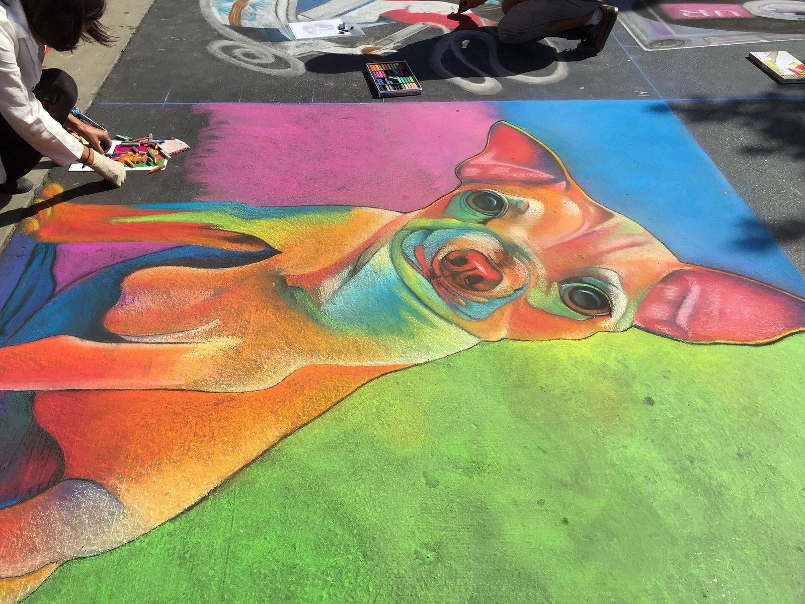 chalk festival7 Chalk Festival in Westlake Shopping Center