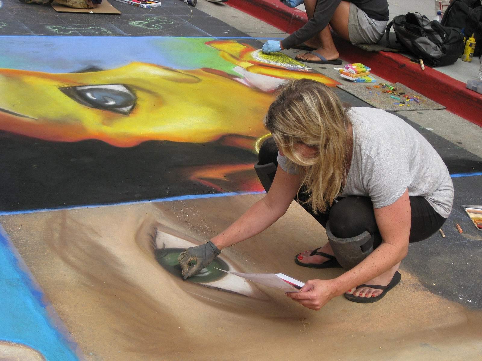 chalk festival9 Chalk Festival in Westlake Shopping Center