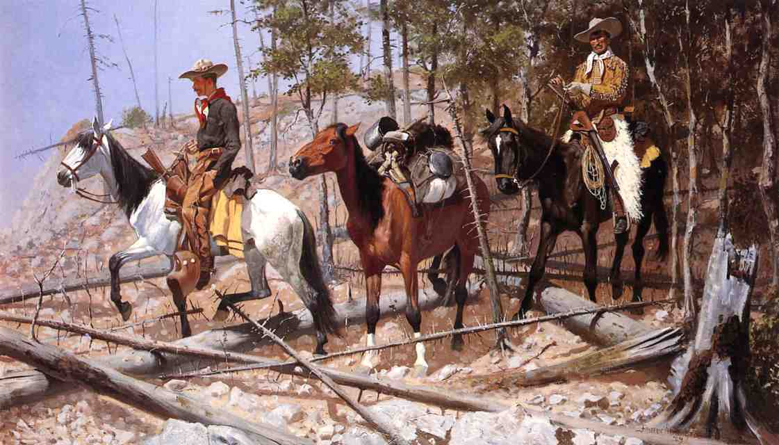 frederic remington11 Frederic Remington Paintings in Virtual Art Gallery ErgsArt