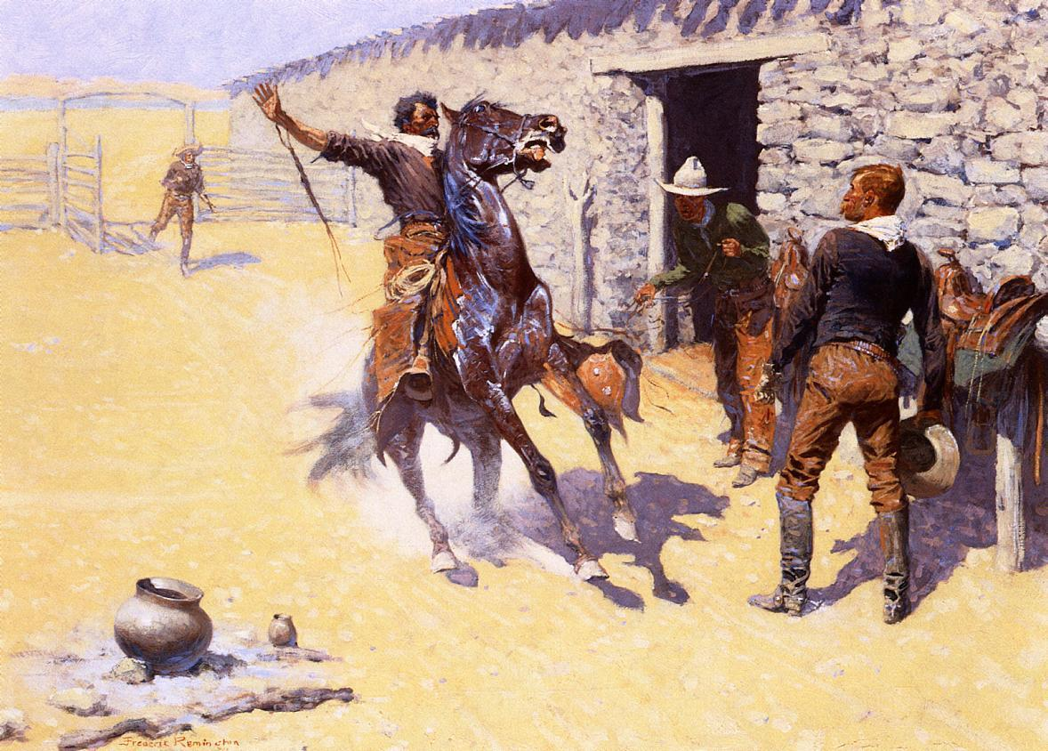 frederic remington5 Frederic Remington Paintings in Virtual Art Gallery ErgsArt