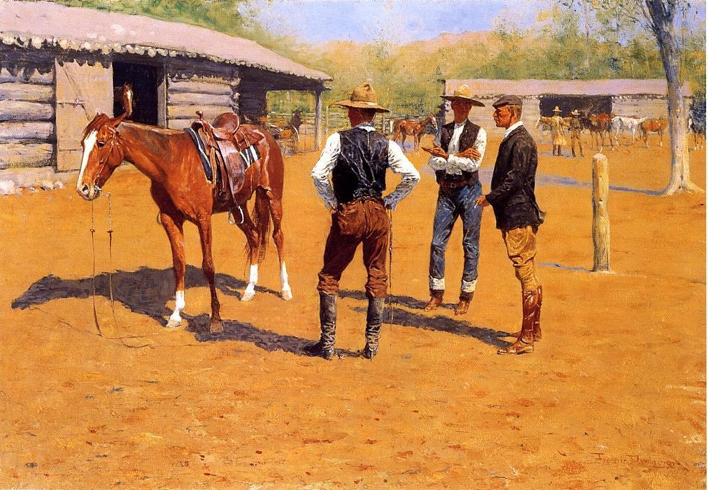 frederic remington7 Frederic Remington Paintings in Virtual Art Gallery ErgsArt