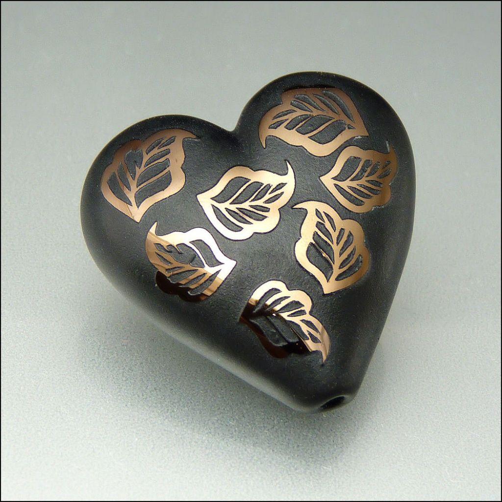 glass art1 Handmade Lampwork Hearts by Stephanie