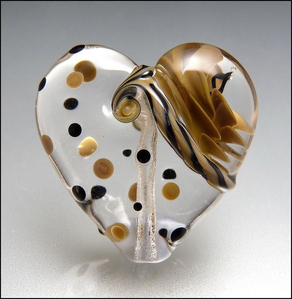 glass art16 Handmade Lampwork Hearts by Stephanie