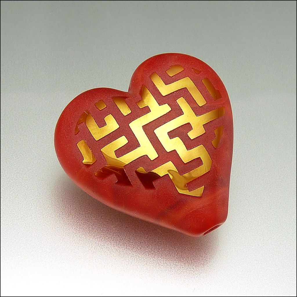 glass art17 Handmade Lampwork Hearts by Stephanie