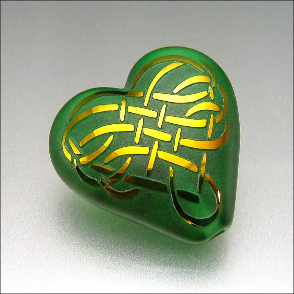 glass art3 Handmade Lampwork Hearts by Stephanie