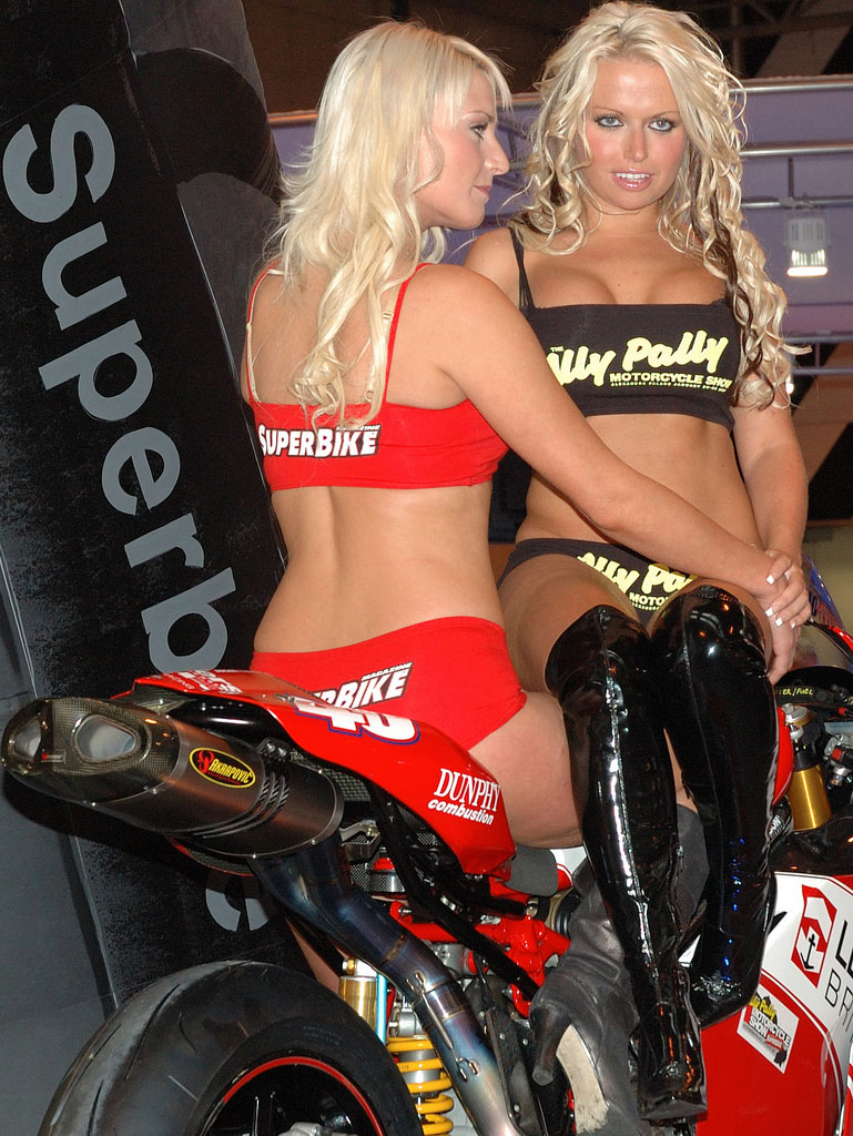 ducati monster1 Ducati Monsters vs Hot Bikini Models