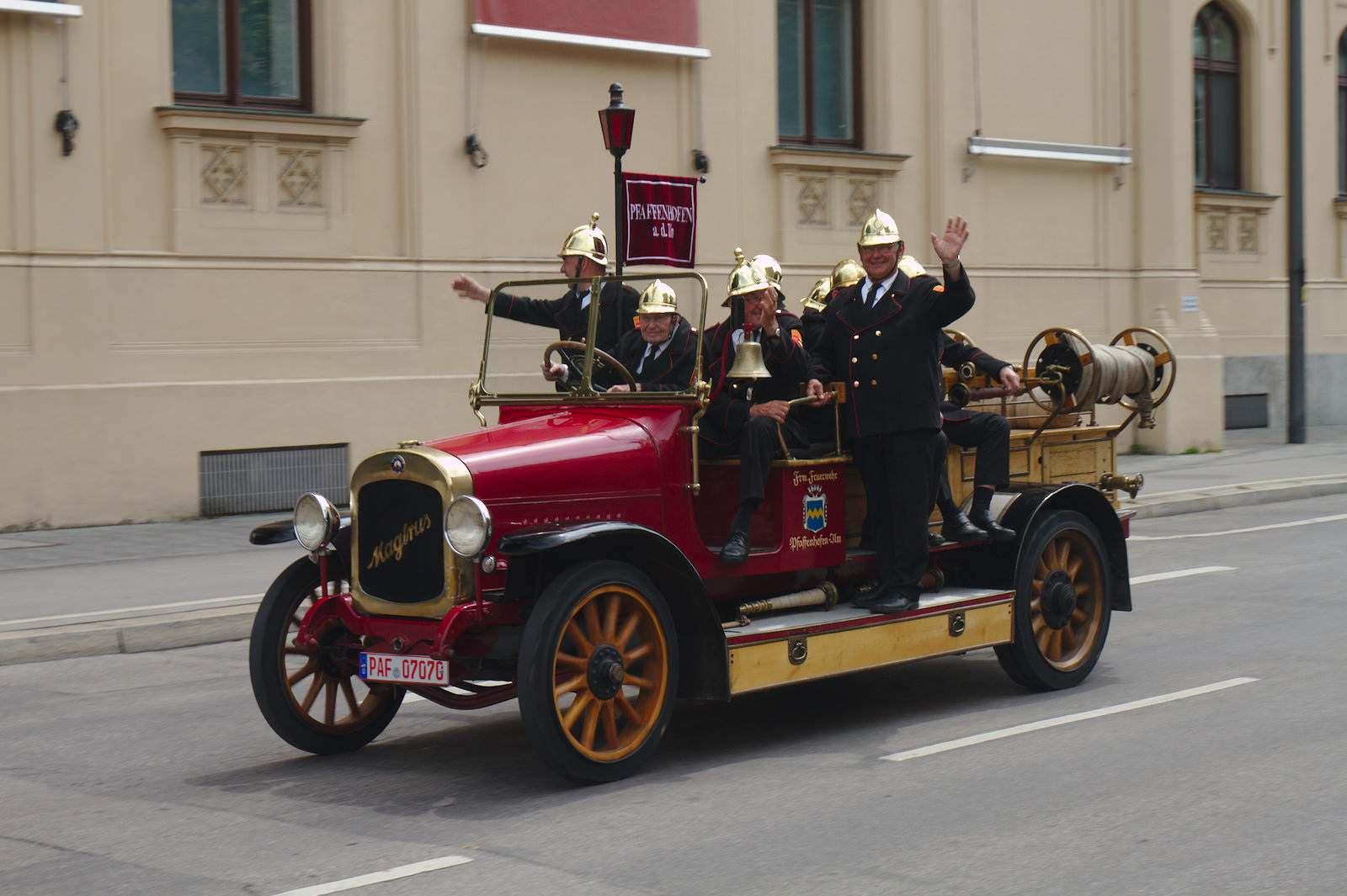 volunteer fire department 150 Years Volunteer Fire Department in Munich