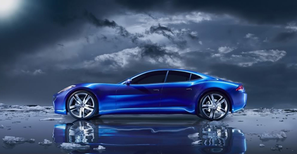 fisker karma1 Blue Fisker Karma with Q Drive