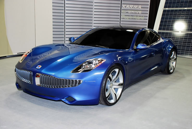 fisker karma10 Blue Fisker Karma with Q Drive