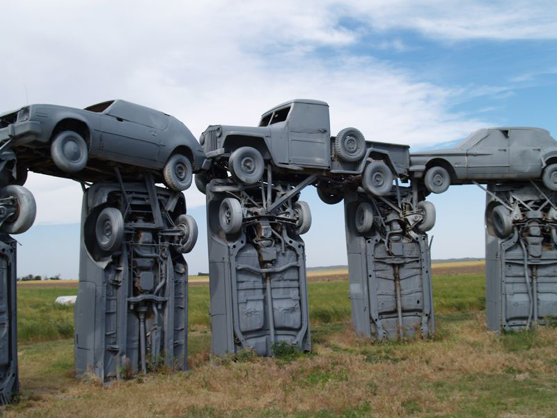 carhenge5 Car Replica of Stonehenge, Nebraska