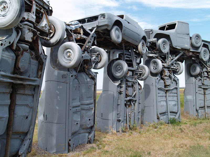 carhenge6 Car Replica of Stonehenge, Nebraska