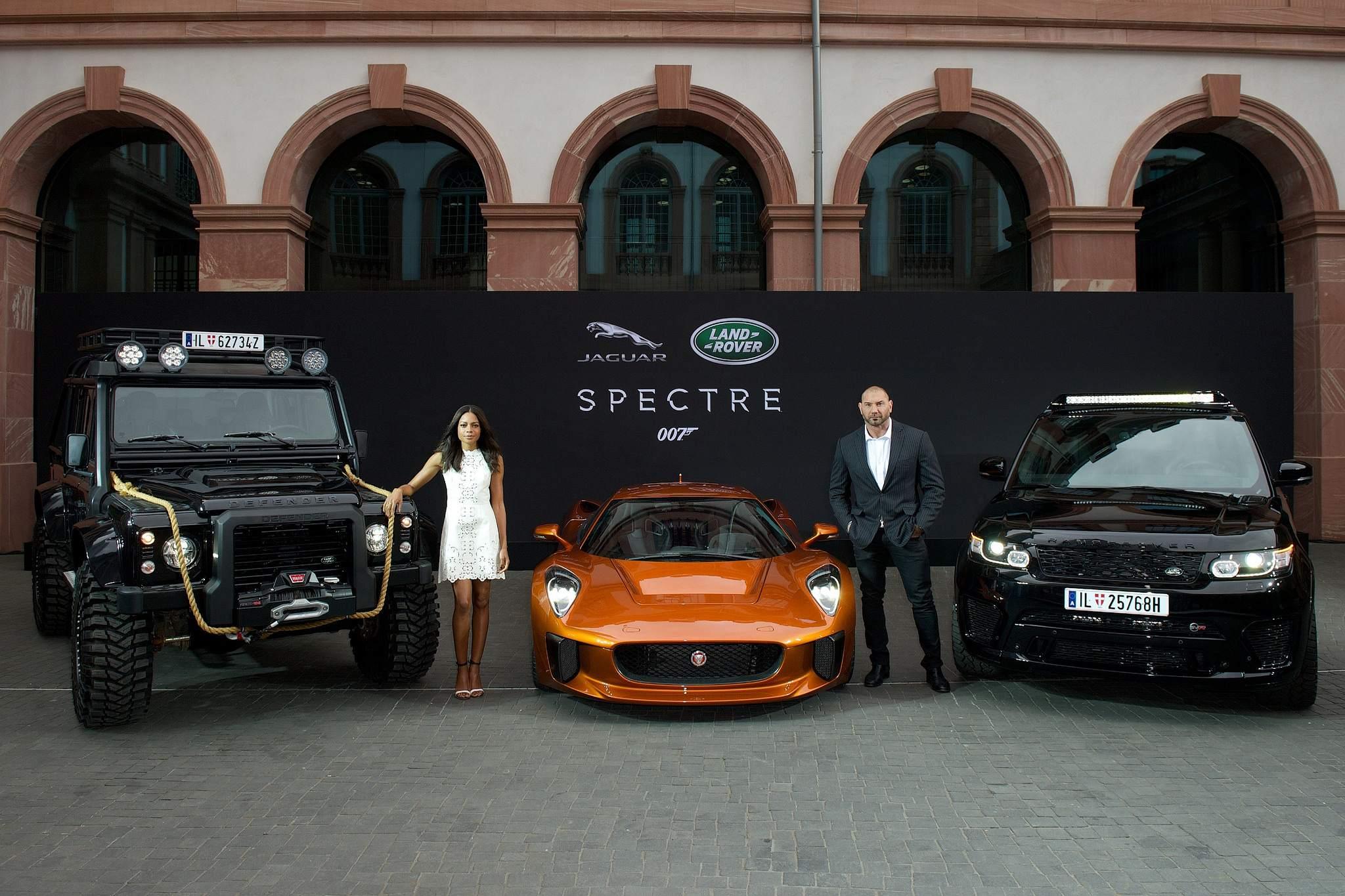spectre car Jaguar Land Rover Latest Bond Cars