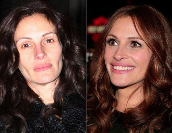 celebrities without makeup2 Celebrities With and Without MakeUp