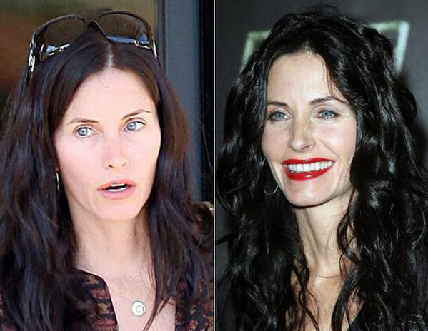 celebrities without makeup5 Celebrities With and Without MakeUp