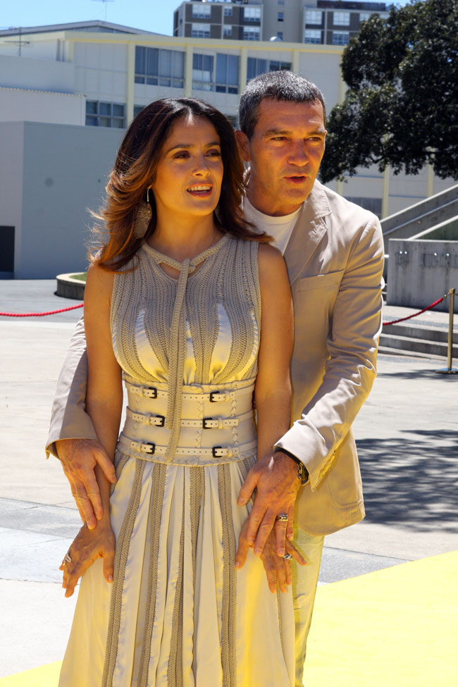 antonio banderas8 Salma Hayek and Antonio Banderas at Australian Movie Premiere