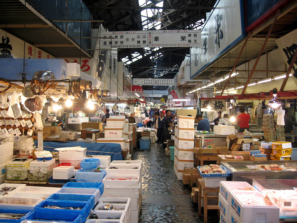 tsukiji market13 Biggest Wholesale Fish and Seafood Market