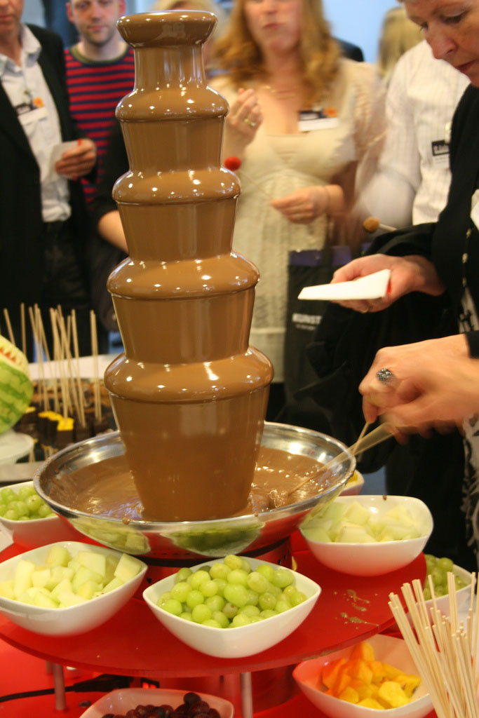 chocolate fountain2 What Kind of Chocolate Could Be Used in a Chocolate Fountain