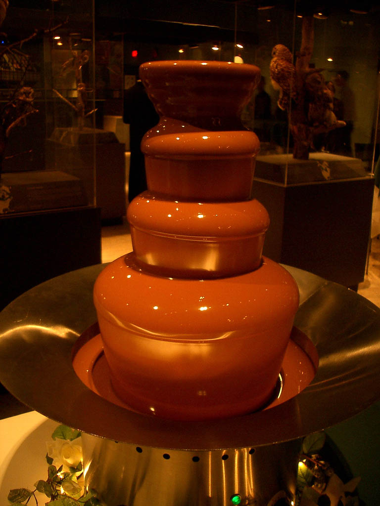 chocolate fountain3 What Kind of Chocolate Could Be Used in a Chocolate Fountain