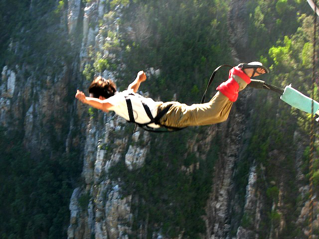 highest bungy2 Worlds Highest Bungy from 216 m High Bloukrans Bridge