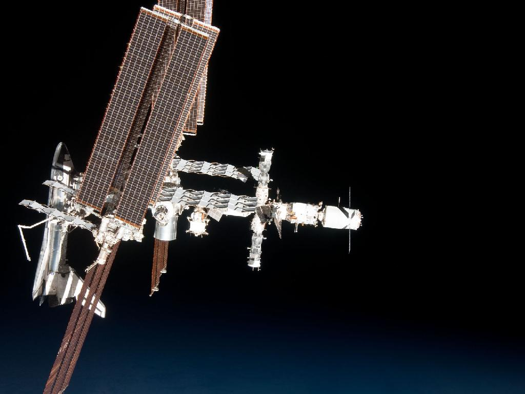 international space station13 The International Space Station and the Docked Endeavour