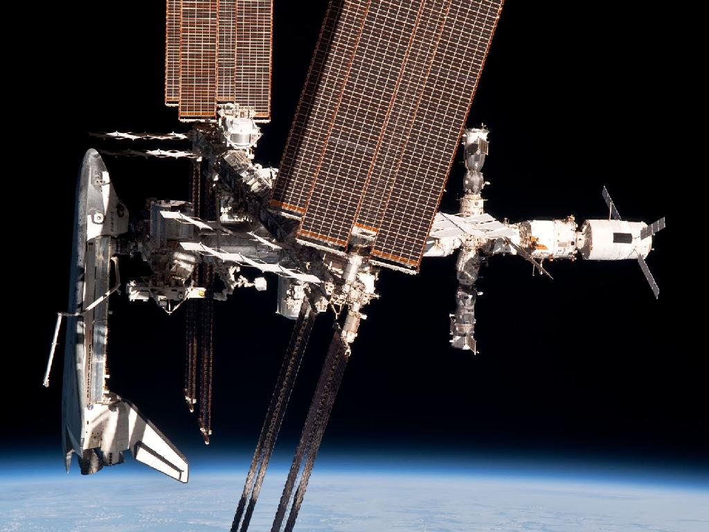 international space station6 The International Space Station and the Docked Endeavour