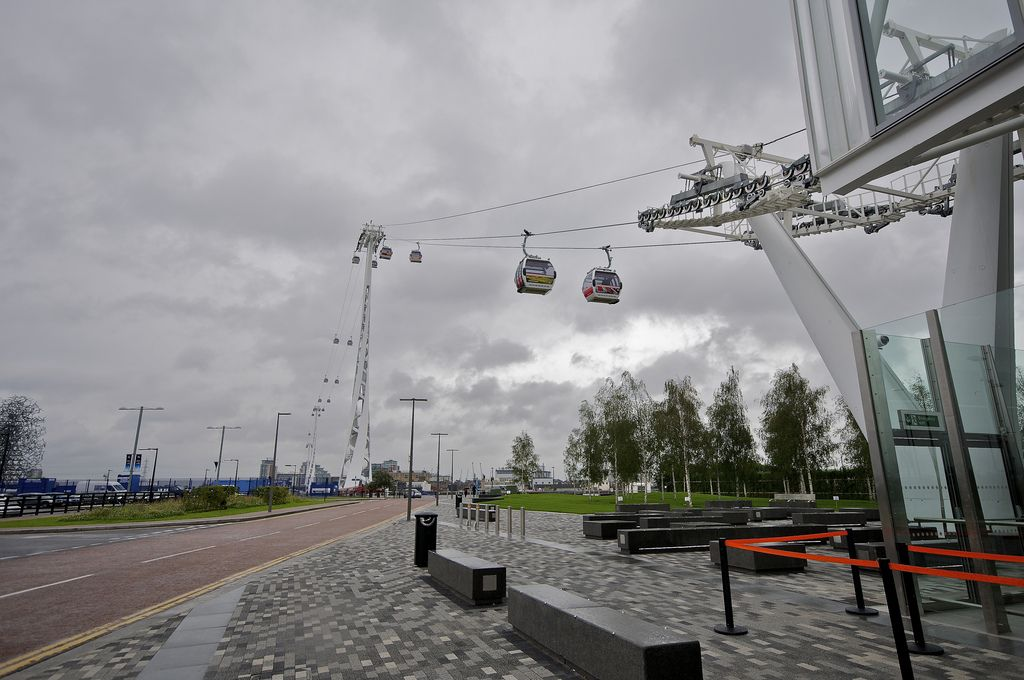 emirates air line London Olympics 2012   Cable Car over Thames