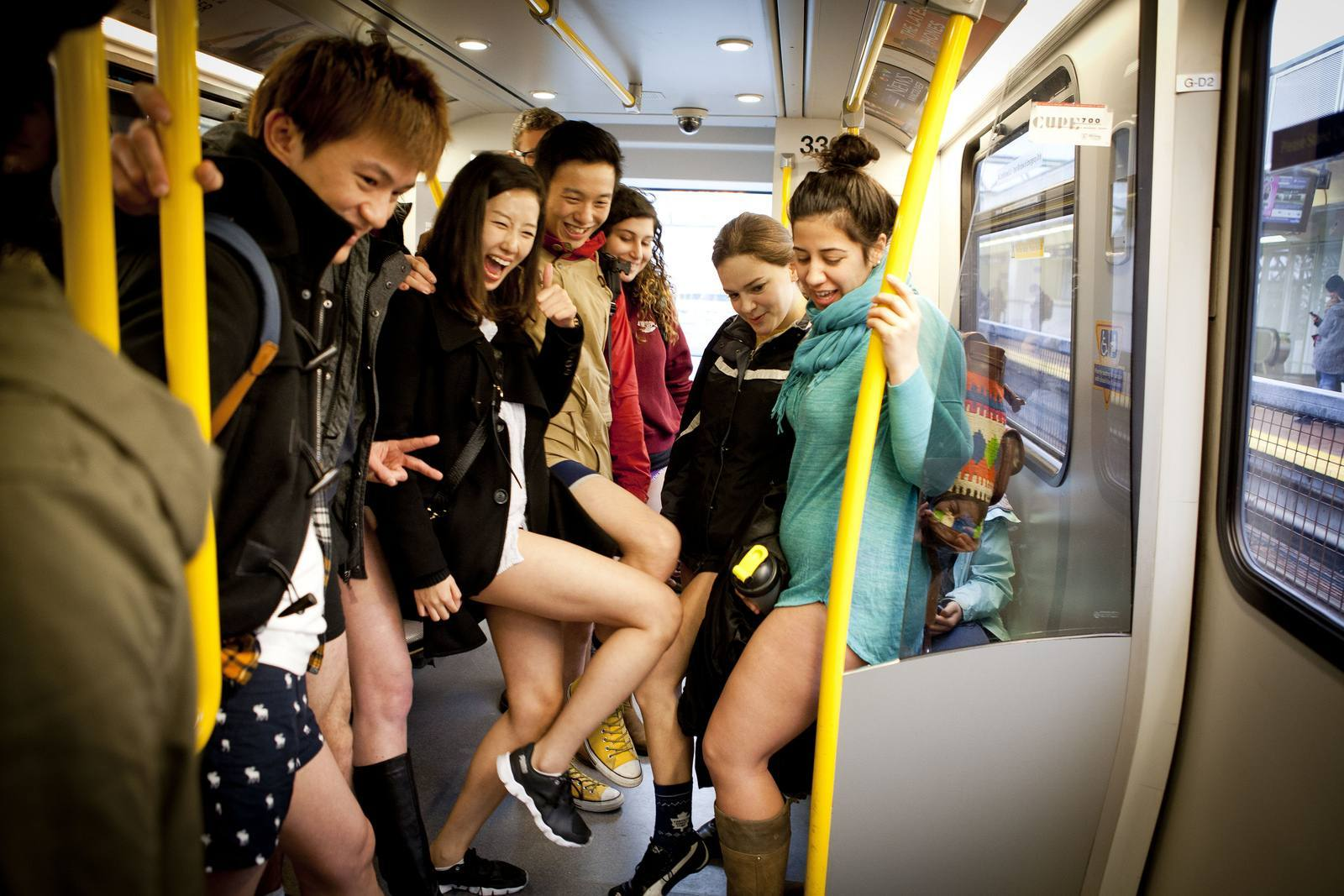 no pants No Pants Skytrain Ride 2015 in Vancouver