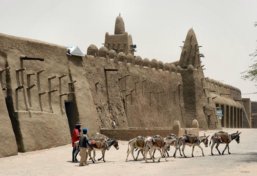 timbuktu Typical Street Scene in Timbuktu