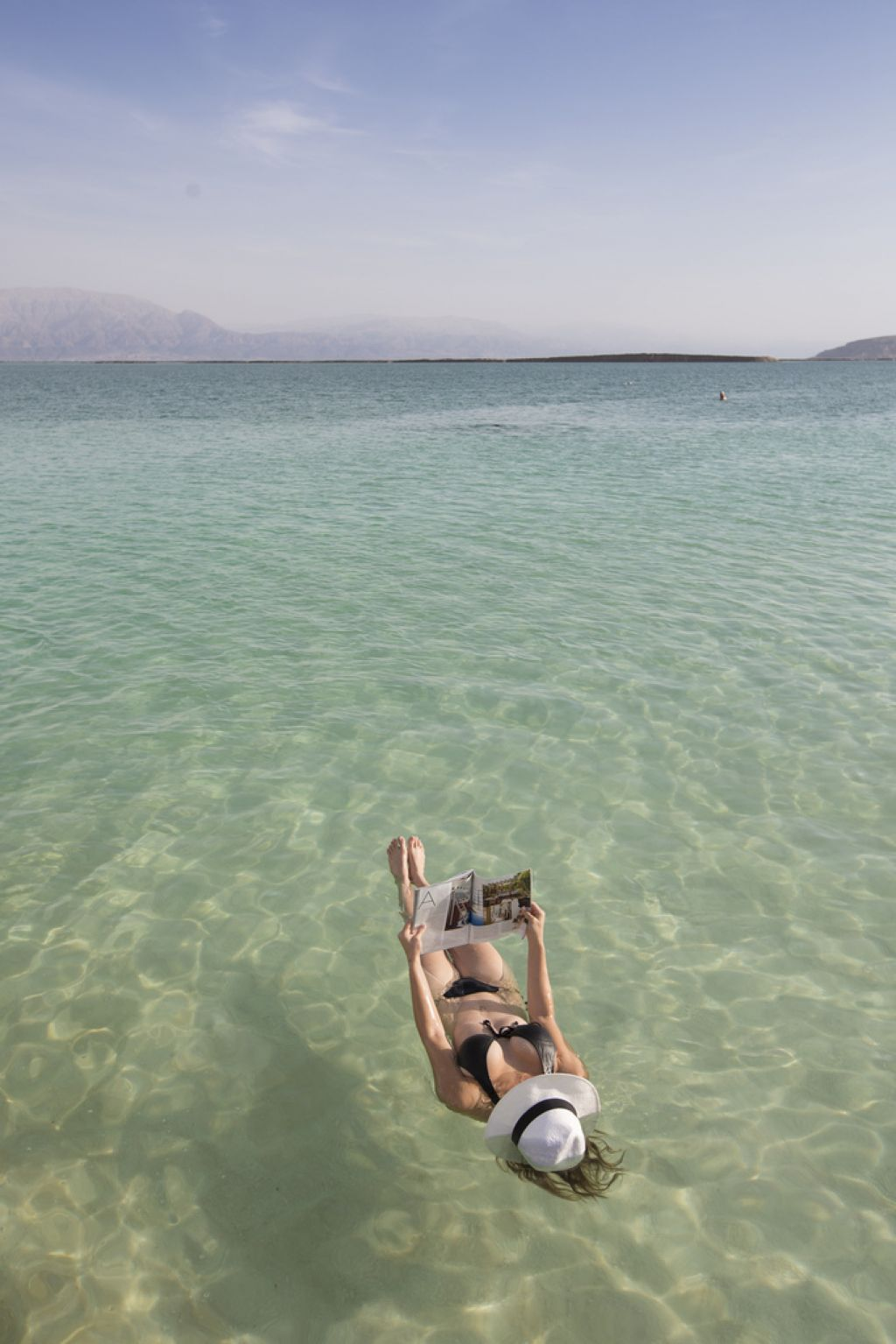 Floating On The Dead Sea By Itamar Grinberg