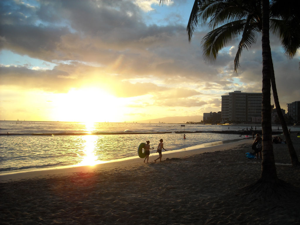 waikiki beach9 Where to Spend Christmas Holidays