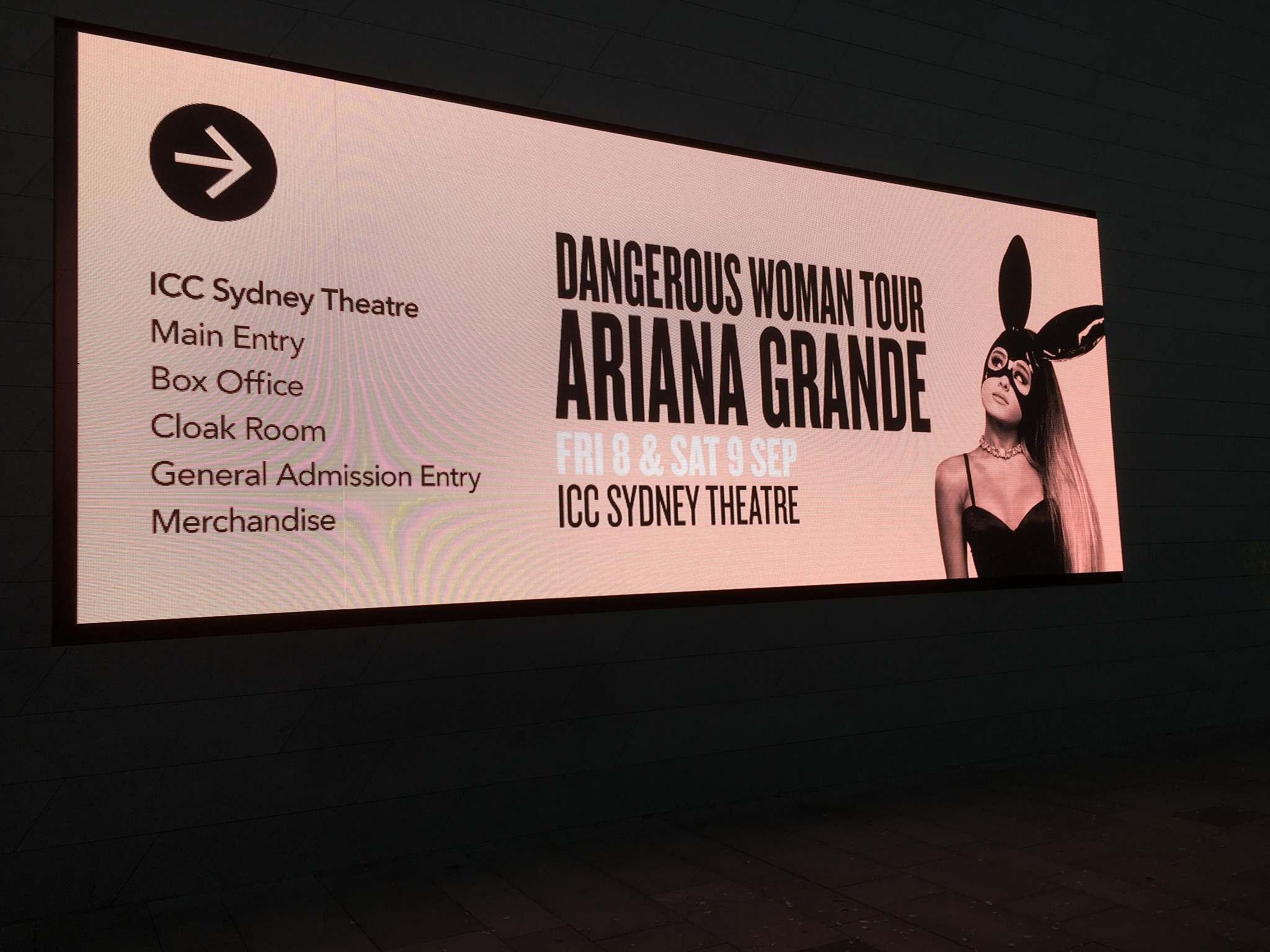 Ariana grande tour dates in Sydney