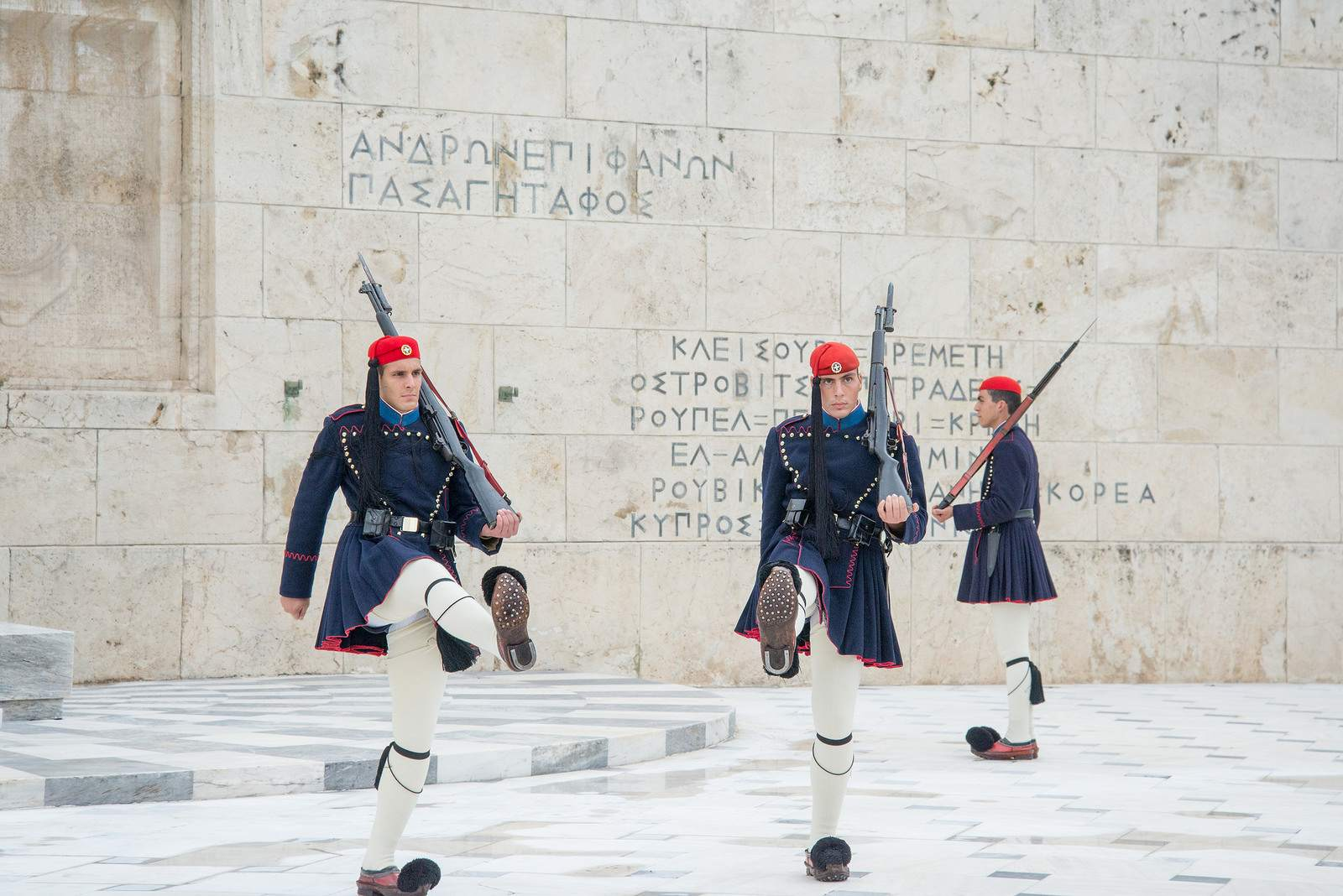 changing guards The Changing of Guards in Athens