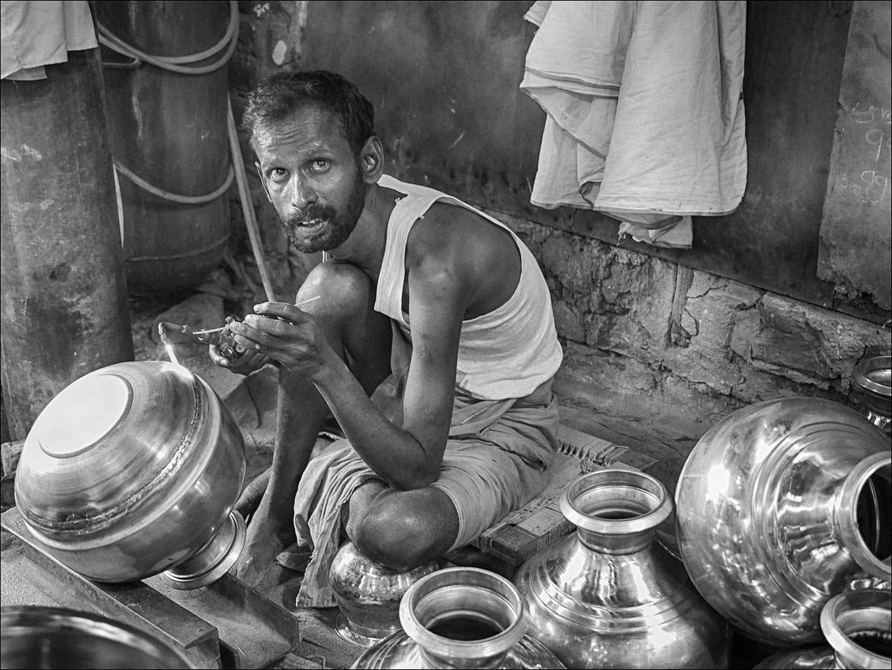 people india4 Daily Life of People in India   Black and White