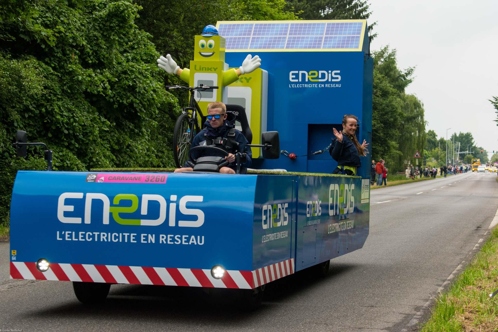 le tour11 Caravan Before the Start of the Tour de France   Dusseldorf