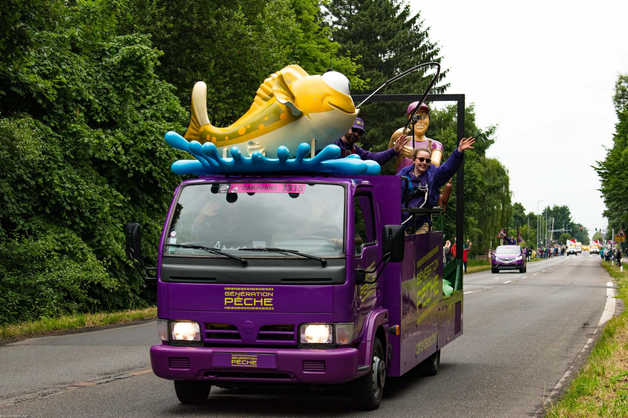 le tour13 Caravan Before the Start of the Tour de France   Dusseldorf
