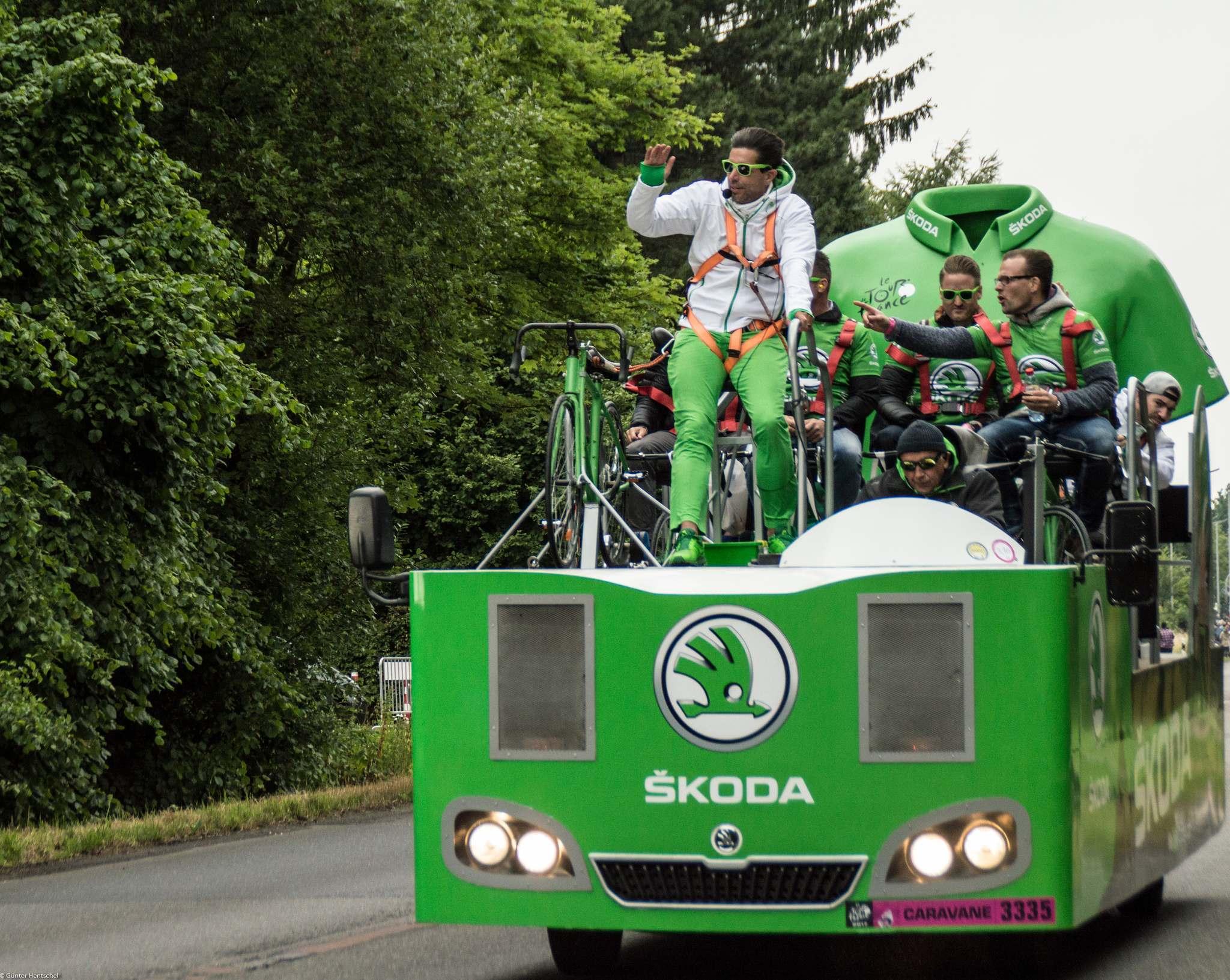 le tour14 Caravan Before the Start of the Tour de France   Dusseldorf