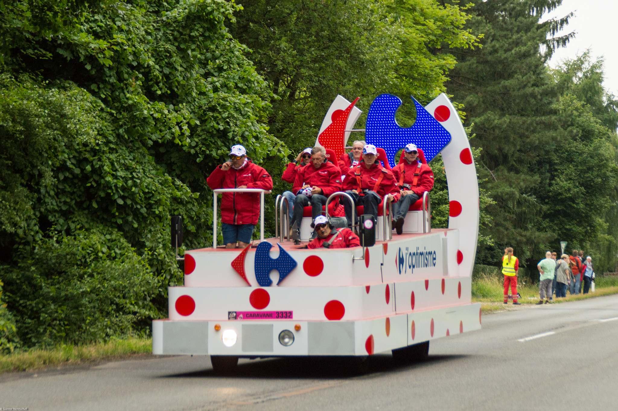 le tour19 Caravan Before the Start of the Tour de France   Dusseldorf