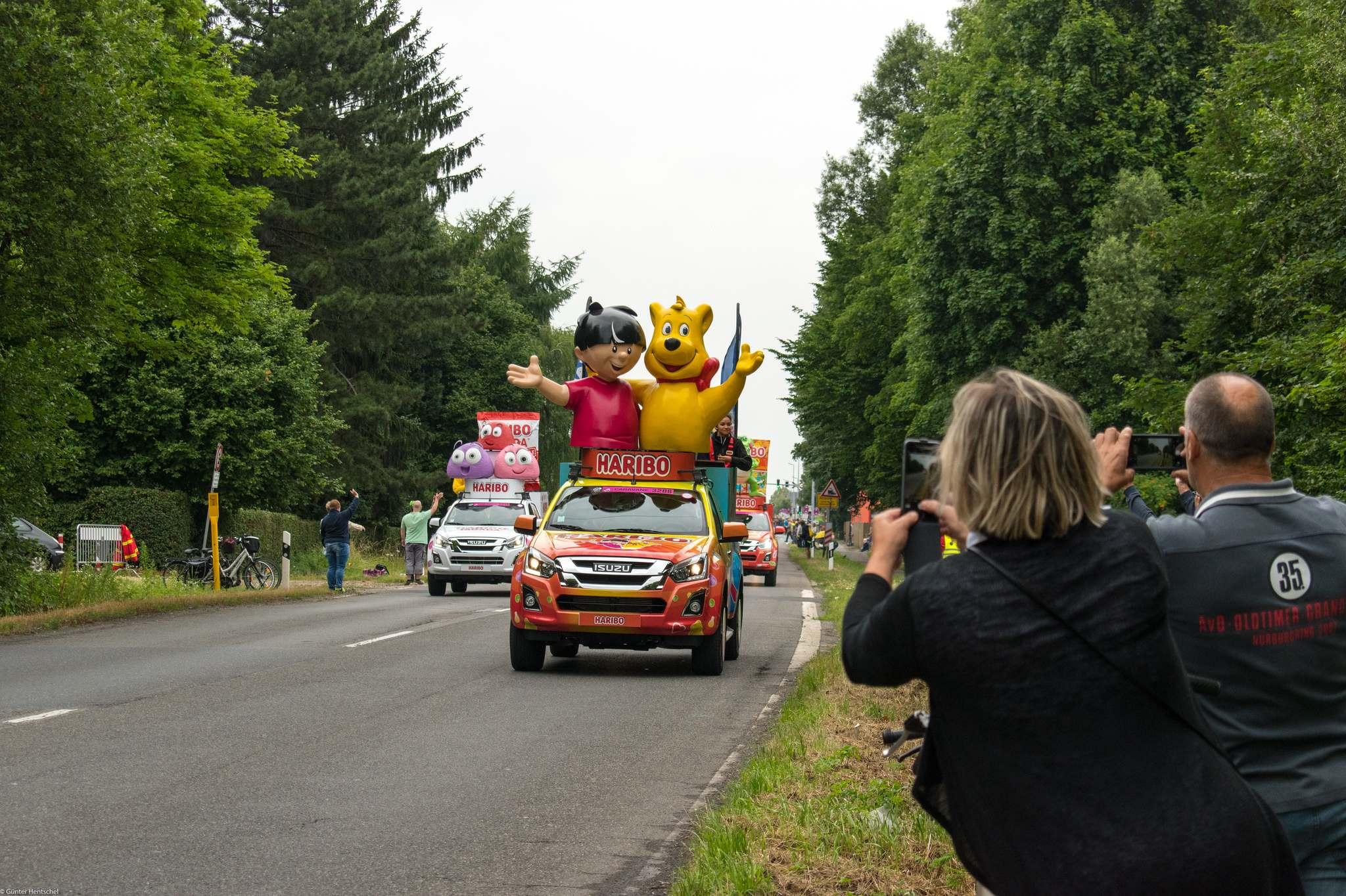 le tour4 Caravan Before the Start of the Tour de France   Dusseldorf