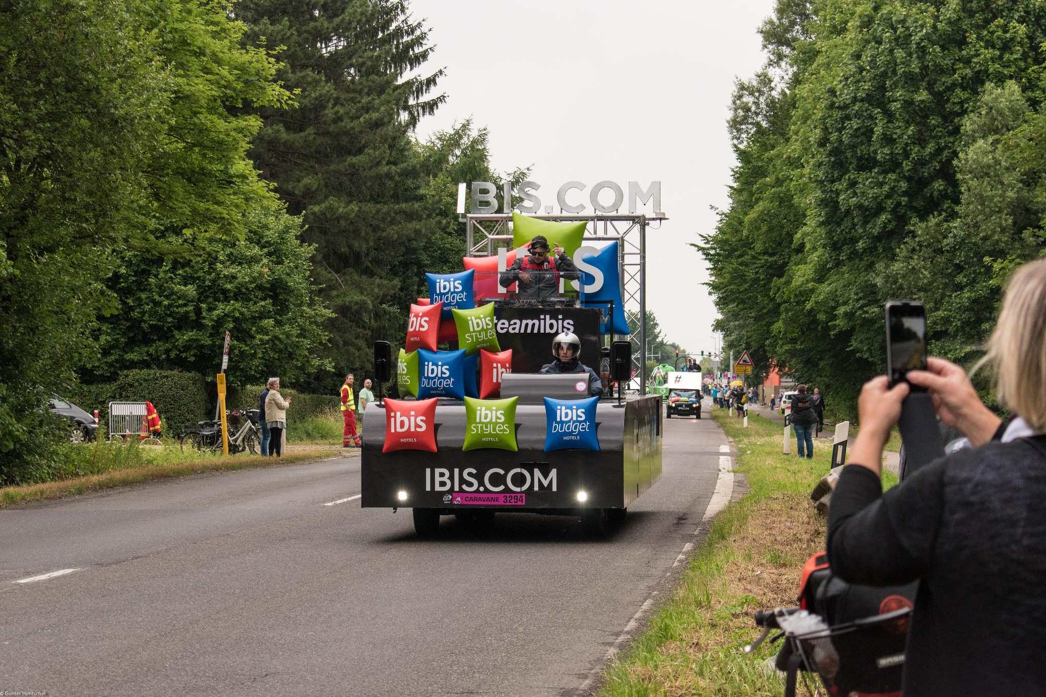 le tour8 Caravan Before the Start of the Tour de France   Dusseldorf