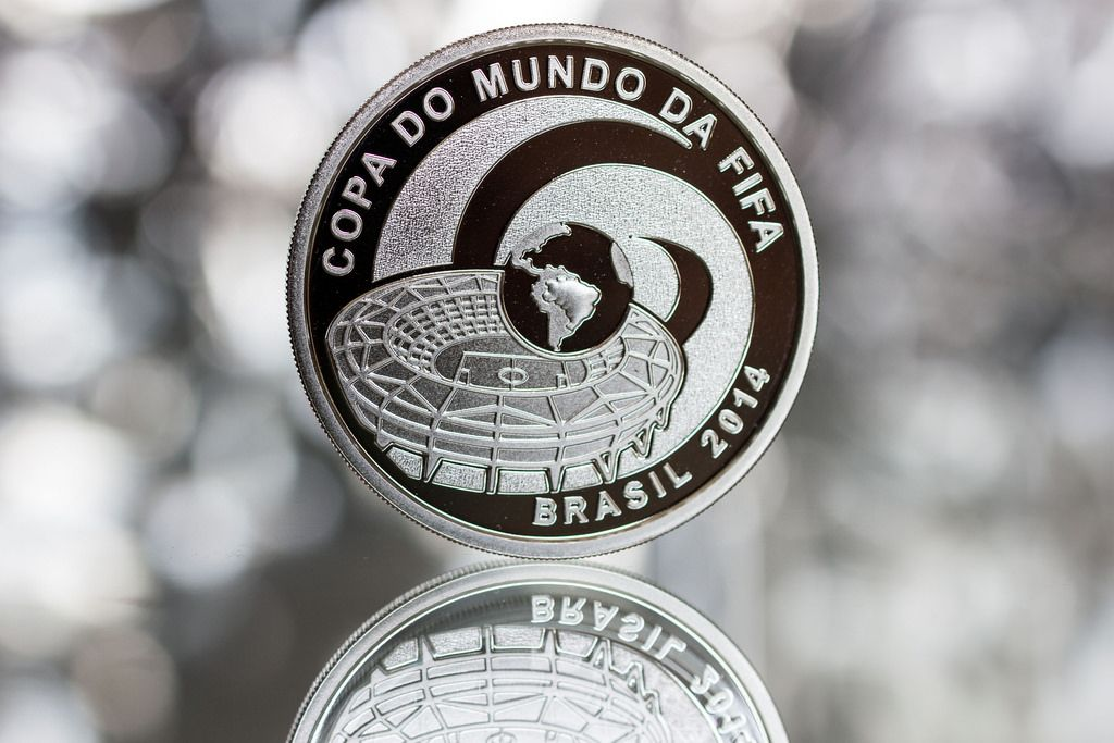 2014 brazil4 Commemorative Coins of the FIFA World Cup 2014 in Brazil
