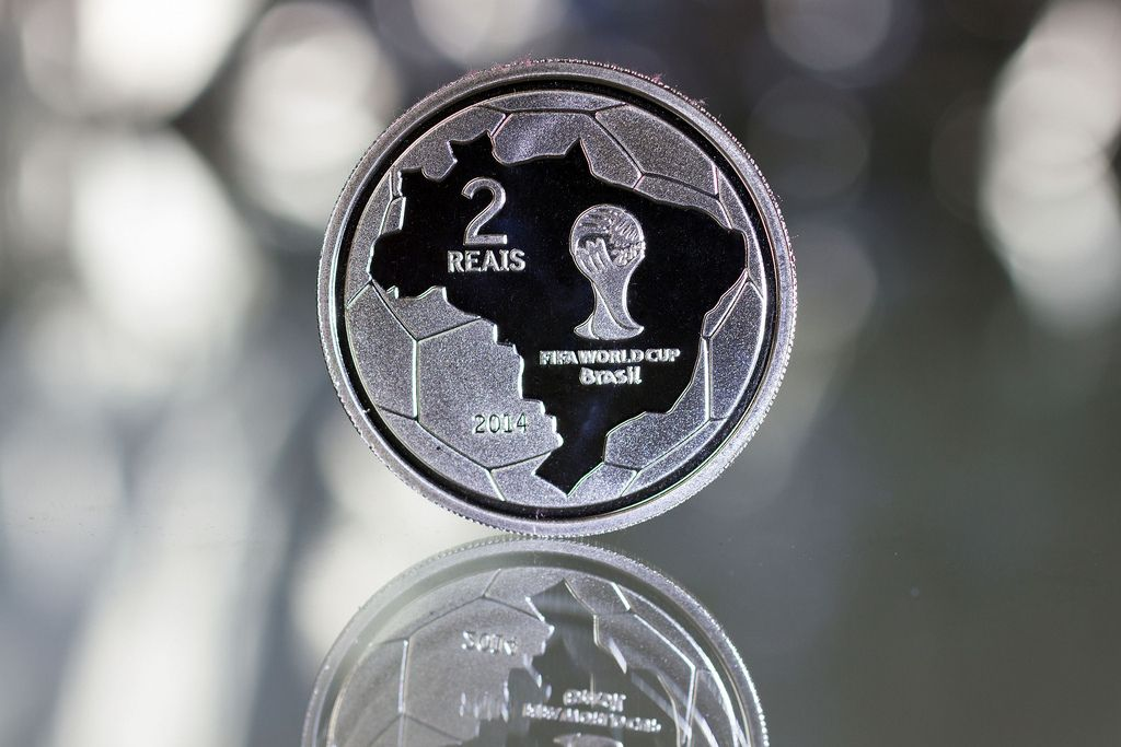 2014 brazil5 Commemorative Coins of the FIFA World Cup 2014 in Brazil